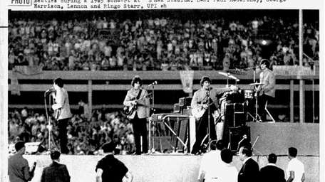 Screaming fans filled Shea Stadium in 1965 to