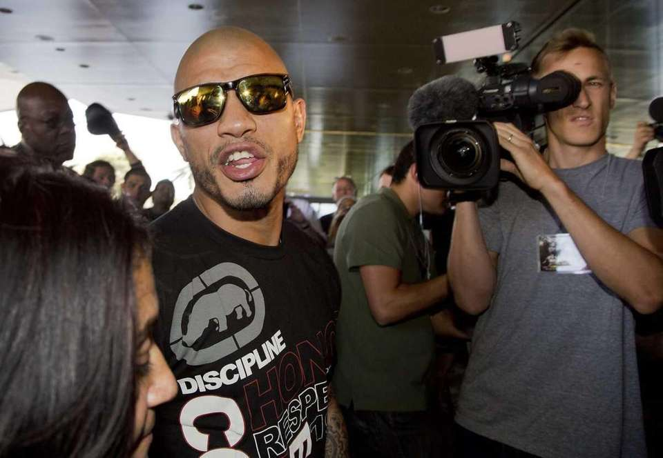 Miguel Cotto arrives at the MGM Grand in