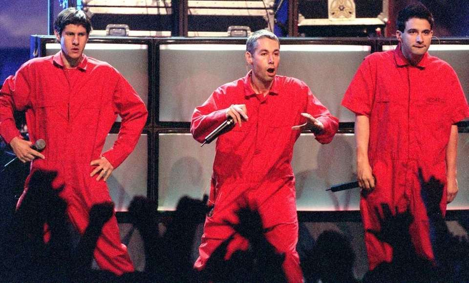 In this file photograph, the Beastie Boys perform