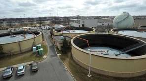 Digestor tanks at Nassau County's Bay Park Sewage