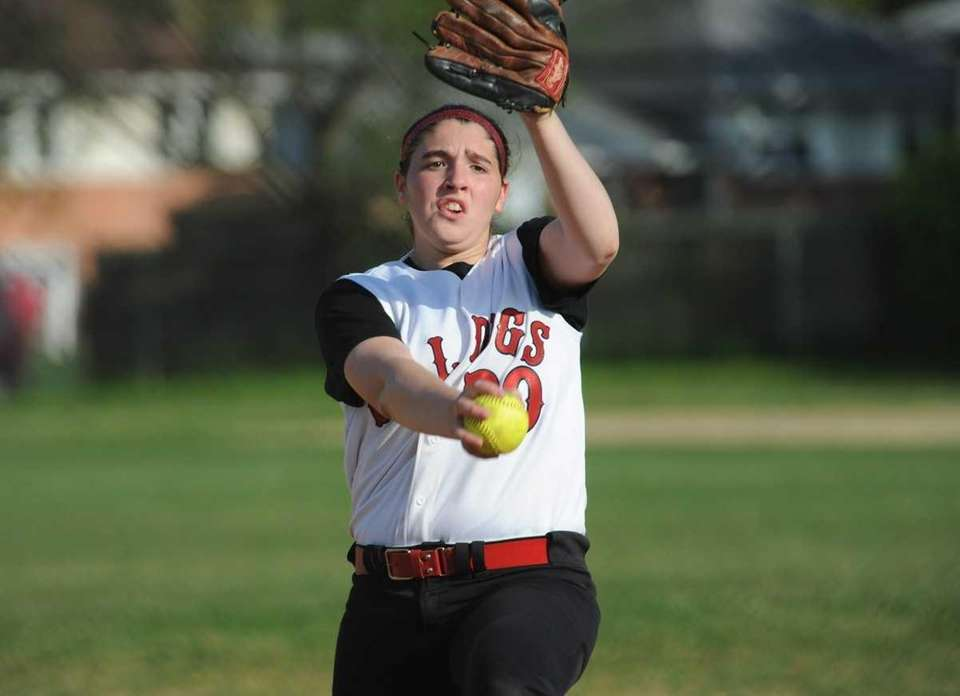 Alannah Basile pitches a complete game for Island