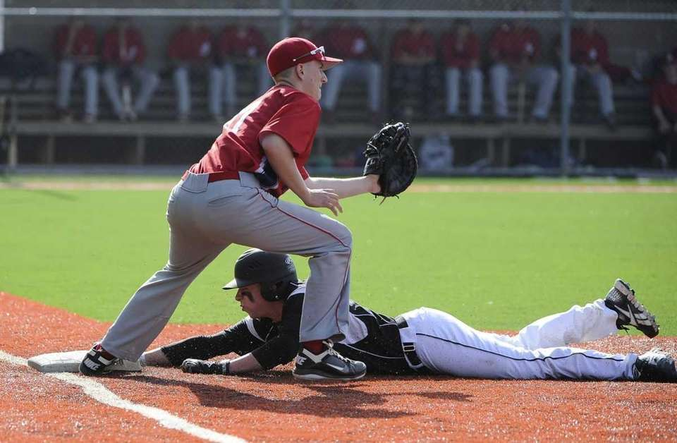 St. Anthony's Rich Patrizio is safe ahead of