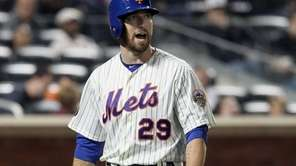 Ike Davis strikes out in the eighth inning
