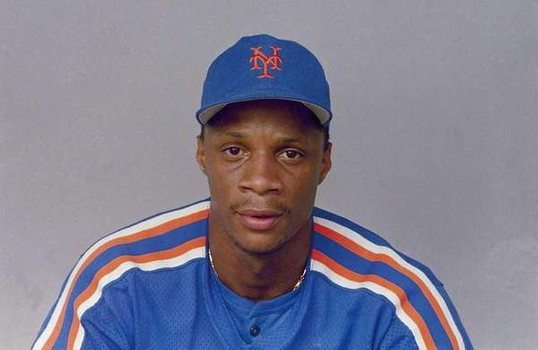 Darryl Strawberry of the Mets in 1988.