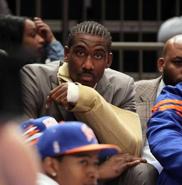 Amar'e Stoudemire #1 of the New York Knicks