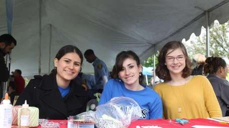 Girl Scouts from North Babylon Troop 1110 made