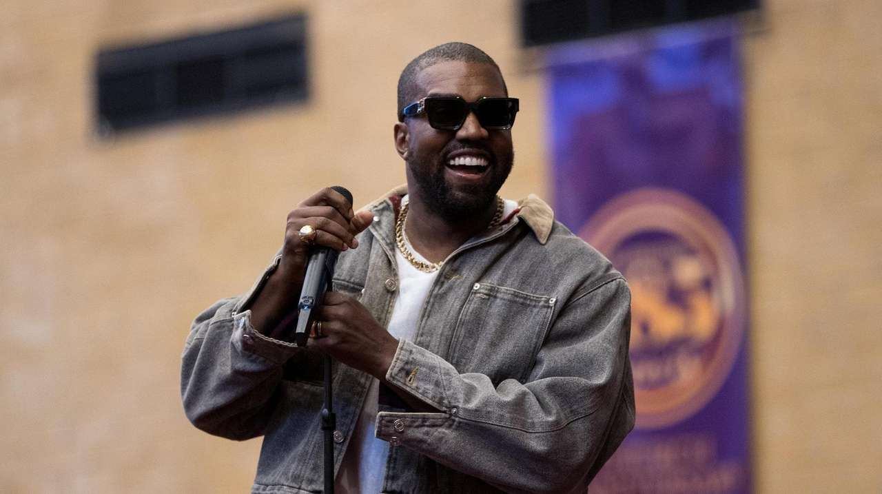 Rapper Kanye West and his choir Sunday Service