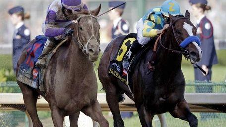 Jockey Mario Gutierrez rides I'll Have Another past
