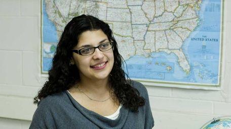Jessica Hernandez, 22, teaches social studies at William