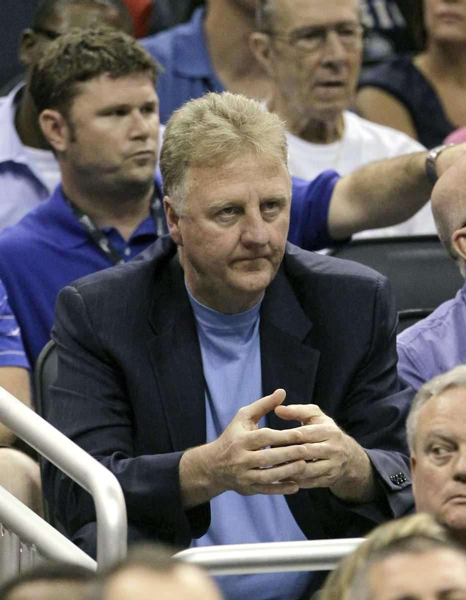 Larry Bird, president of basketball operations for the