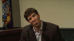 Giants quarterback Eli Manning in a sketch from