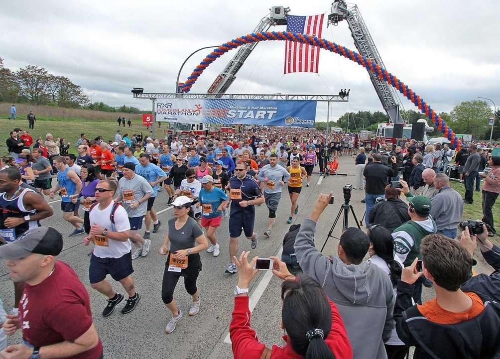 Racers start the 2012 Long Island Marathon in