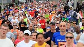 Runners start the 2012 Long Island Marathon in