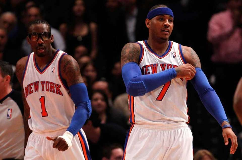 Amar'e Stoudemire and Carmelo Anthony of the New
