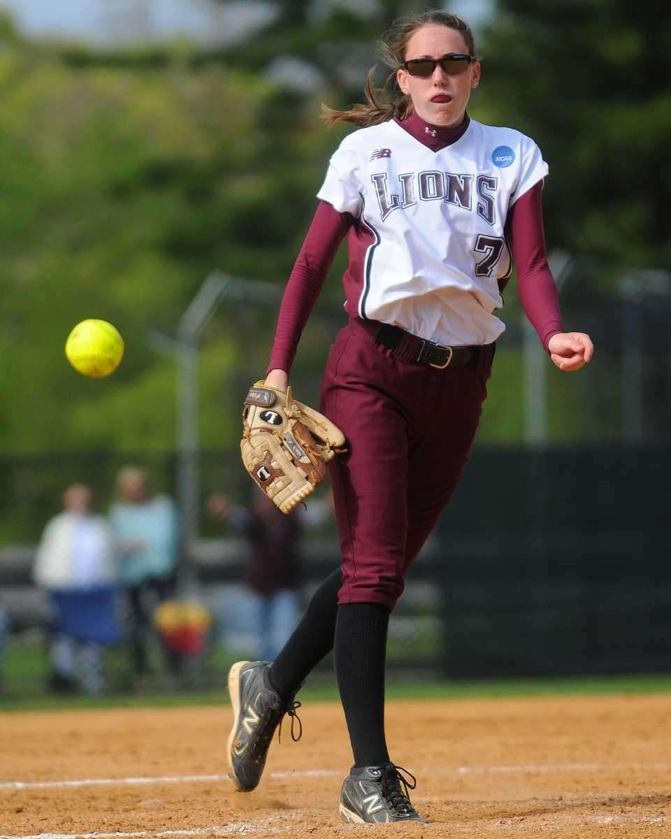 Molloy starting pitcher Megan Butterworth delivers a pitch
