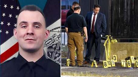 NYPD Officer Brian Mulkeen, 33, was fatally shot