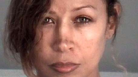 Actress Stacey Dash appears in a booking photo
