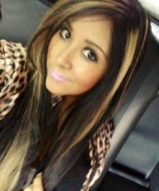 A photo of her new look that Snooki,