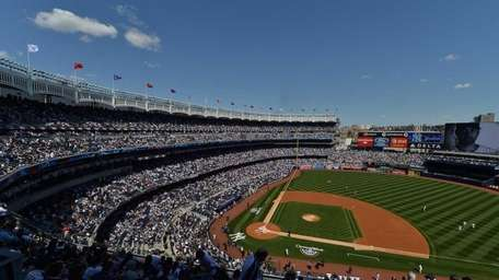 View of Yankee Stadium before a game against