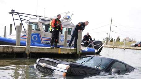 Officers from the Suffolk County Police marine unit