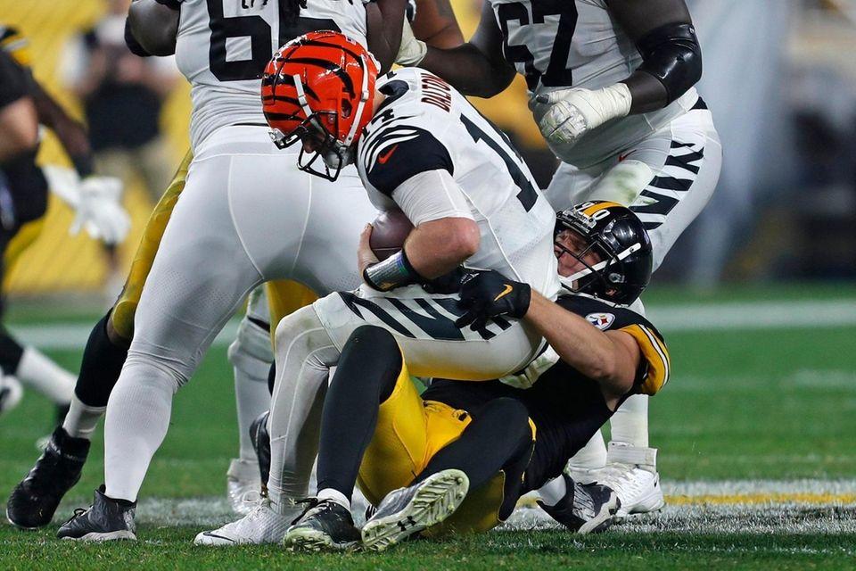 Pittsburgh Steelers outside linebacker T.J. Watt sacks Cincinnati