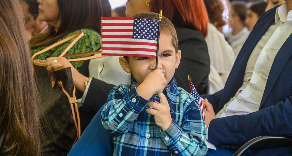 Jacob Peralta enjoy holding the American flag while