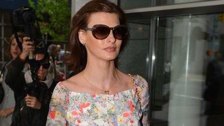 Supermodel Linda Evangelista arrives at New York Family
