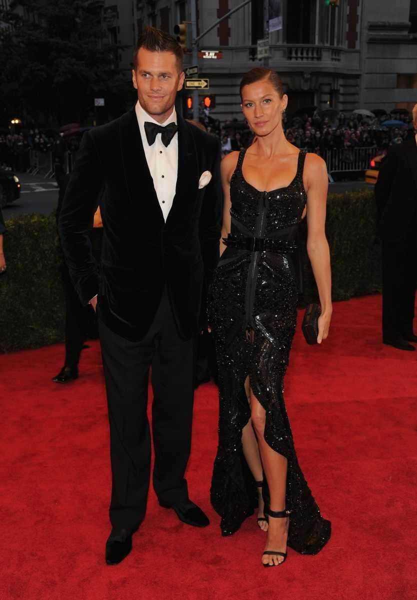 Tom Brady and Gisele Bundchen attends the