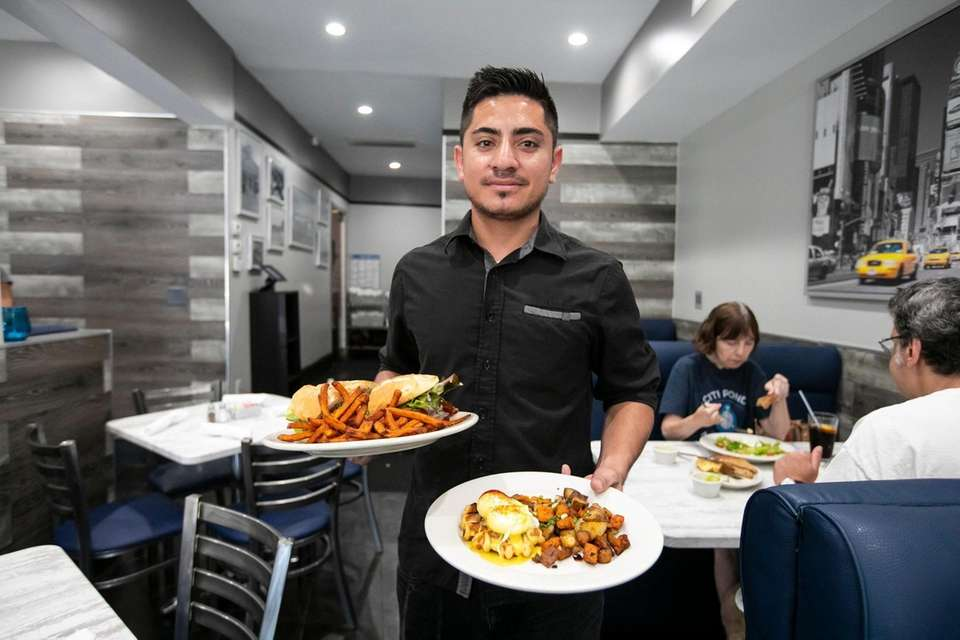 Food Runner Orlando Morales of Huntington Station with