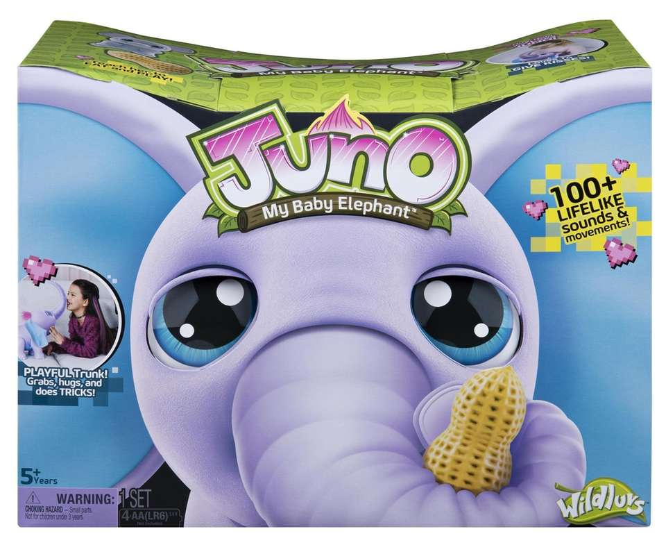 Juno is a toy baby elephant loaded with