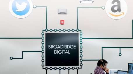 Broadridge Financial, seen here on May 7, 2018,