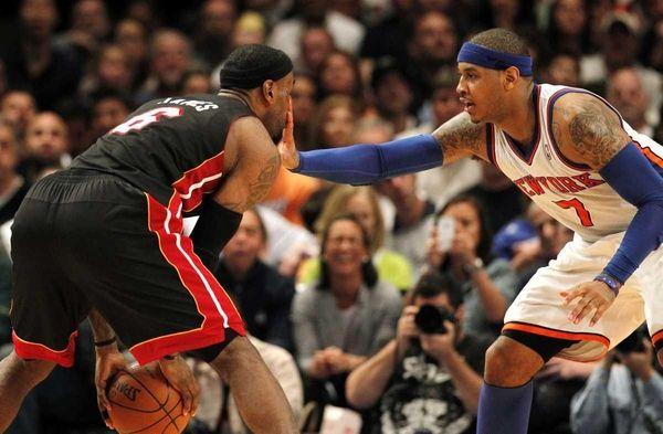 Miam Heat's LeBron James feels Knicks' Carmelo Anthony's