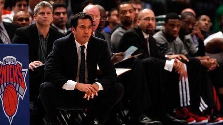 Head coach Erik Spoelstra of the Miami Heat