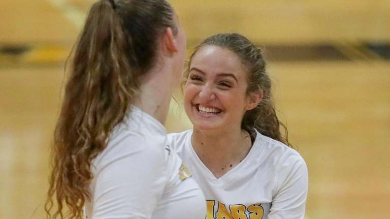 St. Anthony's Sofia Termini, right, is excited about