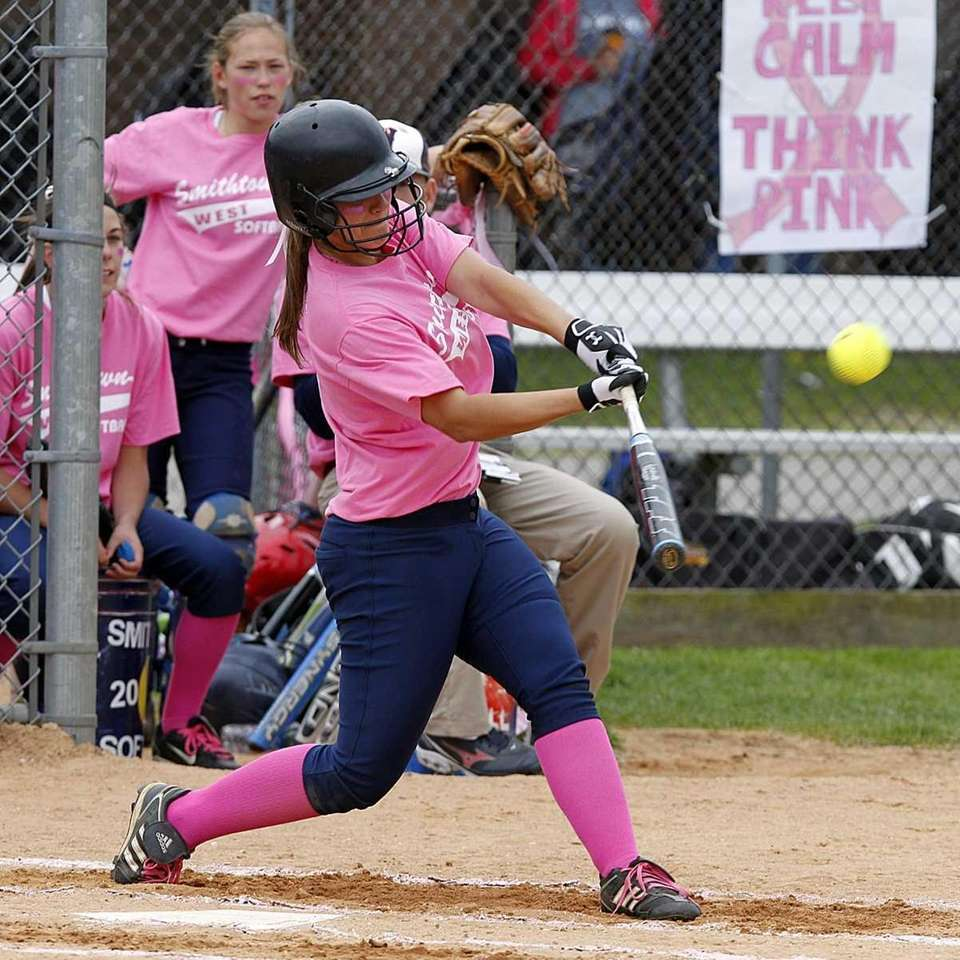 Smithtown West's Emily Horman (5) gets all of