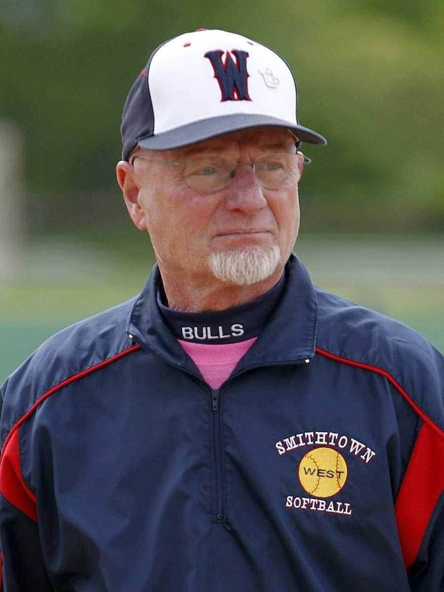 Smithtown West girls softball head coach Dave Miller.