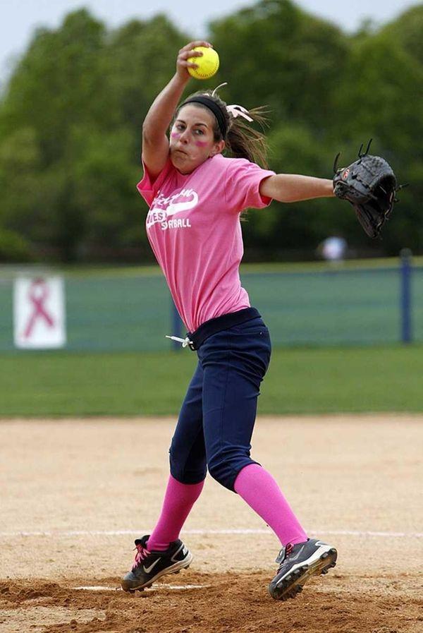 Smithtown West starting pitcher Melissa Koster. Smithtown West