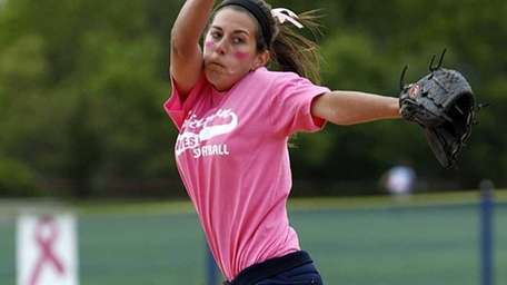 Smithtown West starting pitcher Melissa Koster. Smithtown West