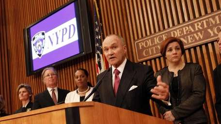 New York Police Commissioner Ray Kelly announces a