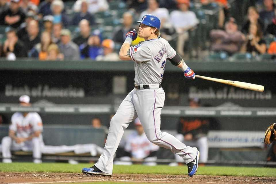 May 8, 2012 The Rangers' outfielder sets an