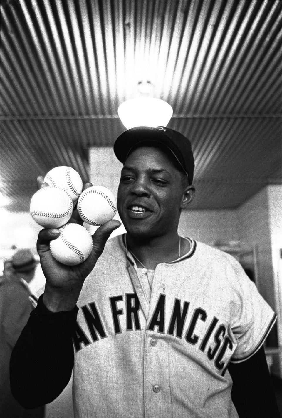 WILLIE MAYS, San Francisco Giants April 30, 1961