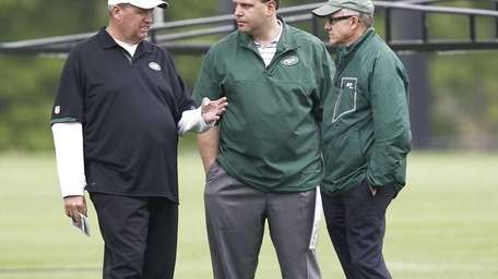From left, New York Jets head coach Rex