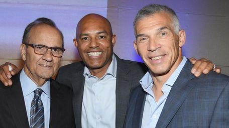 From left, Joe Torre, Mariano Rivera and Joe