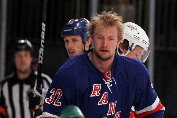 Anton Stralman of the New York Rangers looks