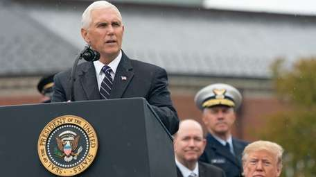 Vice President Mike Pence speaks during the Armed