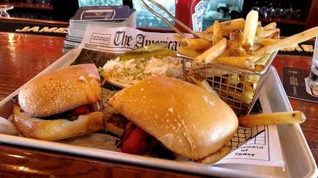 The marinated skirt steak sandwich at The Homestead,