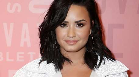 Demi Lovato attends a Fabletics event in Woodland