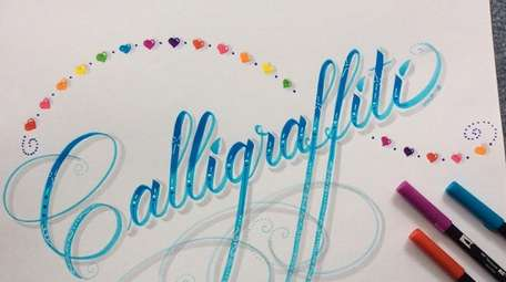 Calligraffiti combines the handwriting style of calligraphy with