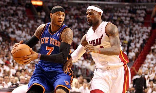 Forward LeBron James #6 of the Miami Heat