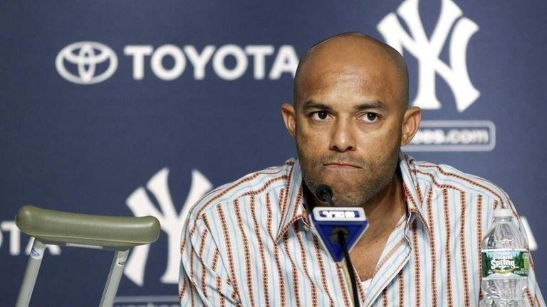 Yankees closer Mariano Rivera, who suffered a season-ending